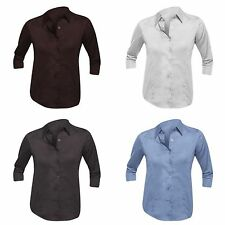 Collared Business 3/4 Sleeve Tops & Shirts for Women