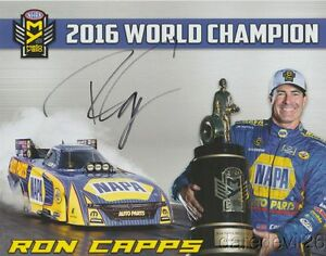 2017 Ron Capps signed Napa Auto Parts Dodge Charger Funny Car NHRA Hero Card