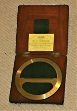 STANLEY BRASS PROTRACTOR DRAUGHTSMAN DRAWING SURVEYING INSTRUMENT, GOOD COND.