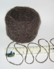 50g ball Earth Brown British knitting wool yarn 4 ply SOFT brushed fluffy LOVELY