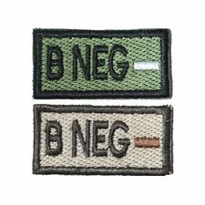 B- B Neg Self-Adhesive Blood Patch in Olive and Tan 1x2in