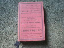 LE ROSEAU D'OR QUATRIEME SERIE N°6,E.O. N°tée 1929: MARITAIN, RILKE...