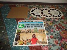 VTG 1976 View Master World Travel METRO TORONTO ZOO 3 Reels Case