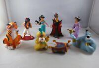 90s DISNEY Aladdin Toy Figure Lot of 8 Genie Jasmine Afar Raja