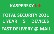 Kaspersky Total Security 2020 2021 5 devices/1 year|Global key|Sent@ebay message