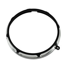 7'' Brust Headlight Trim Ring For Harley Softail Fat Boy Deluxe Heritage Classic