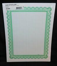 "Blank Award Achievement Certificates 11"" x 8 1/2"" 50/Pk Print Design Your Own"