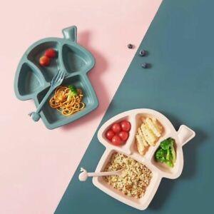 Cartoon Dinosaur Anti-hot Tableware Set Wheat Straw Child Feeding Training Dish