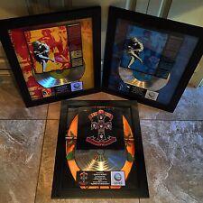 3 VERY RARE Guns N' Roses Platinum Record Album Music Award  RIAA