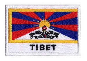 Patch écusson patche drapeau Tibétain TIBET 70 x 45 mm brodé à coudre