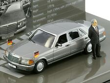 Minichamps MERCEDES 500 SEL WITH DR. HELMUT KOHL 1:43*Back in Stock*