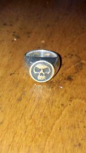 Good Art Hlywd Jack Skull Signet Ring - Sterling Silver