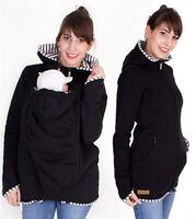 Thicken Baby Carrier Hoodie Kangaroo Coat Jacket for Mom Baby Wearing