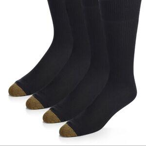 Gold Toe Mens 4-Pair Sheffield Premium Pima Cotton Trouser Socks Black NWT 10-13