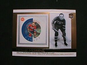 VERY RARE ! 2002 PACIFIC CANADA POST NHL ALL-STARS GAME STAMP HOWIE MORENZ !!