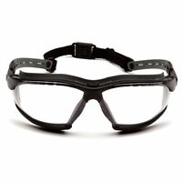 Pyramex Isotope Safety Glasses Goggles with Clear H2MAX Anti-Fog Lens