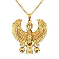 Ankh Bird Pendant Egyptian Horus Falcon Jewelry Men Necklaces