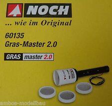 NOCH 60135 Grasmaster 2.0 mit 3 Siebaufsätzen + Streugras, 20 kV, Gras-Master®