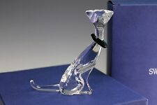 Swarovski Signed Crystal Miniature Sitting Cat