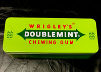 "Wrigley's Doublemint Chewing Gum Tin Box. Large. 11""x4.5""x2.5"""