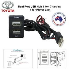 NEW Car 5V 2.1A USB Interface Socket Charger & Audio input Toyota