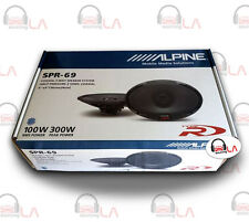 "Alpine SPR69 6x9"" 600W 2 Way Full Range Type R Car Audio Speakers"