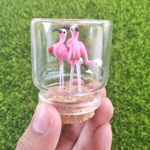 5 x Clay Pink Flamingo Birds Miniature Dollhouse Fairy Terrarium Accessories DIY