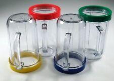 Set 4 bicchieri magic frullatore bullet tazze brocca rapido con anelli colorati