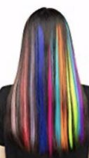 Kapex Straight Synthetic Colored Hair Party Highlight Clip in Hair Extensions