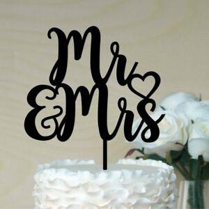 Mr & Mrs Wedding Cake Topper , ACRYLIC #1