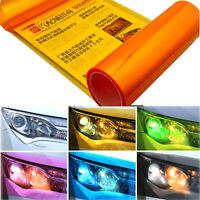 Orange Car Headlight Tint Film Taillight Tail Vinyl Wrap Fog Light Films Sticker