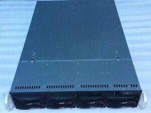 SuperMicro 2U CSE-825 Server Chassis w/ 2x PSU, Backplane SAS825TQ, Rails,8x 3.5