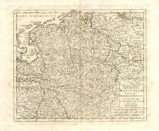 'Nuova Carta del Circolo di Westfalia', by Isaak TIRION 1740 old antique map