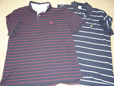 Lot of 2 Brooks Brothers Men's Blue striped short sleeve polo shirts XL