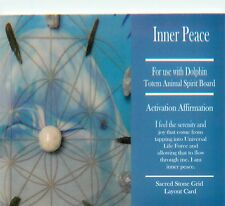 "INNER PEACE Grid Card 4x6"" Heavy Cardstock For Use with Healing Crystals"
