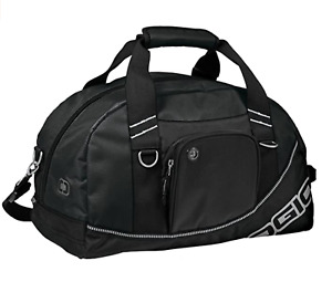NEW WITH TAGS OGIO BLACK HALF DOME DUFFLE GYM TRAVLE BAG WITH SHOULDER STRAP
