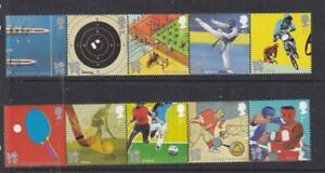 GB 2012 VF-MNH STRIPS OF 5 OLYMPICS AND PARALYMPIC GAMES PO FRESH
