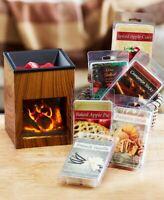 Fireplace Tart Wax Warmer or 6 Pk Tart Sampler Candle Melt Holder Fragrance Gift