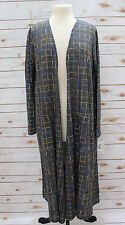 M - Medium LuLaRoe Sarah Beautiful Dark Gray base Multi Color Cardigan NWT