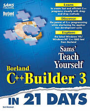 Sams Teach Yourself Borland C++ Builder 3 in 21 Days, Reisdorph, Kent, Used; Goo
