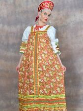 Russian Folk Traditional Dress (Sundress & Blouse) 48-50 size