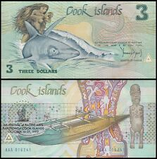 Cook Islands $3 Dollars, 1992, P-6, UNC, 6th Festival of Pacific Arts
