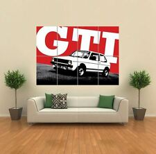 VW Mk Golf Volkswagen GTI Car Giant Wall Art Poster Print