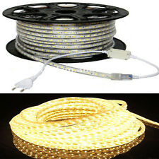WARM WHITE YELLOW LED rope light (( 10 Meters with adapter)) for home decoration