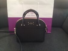 New Kate Spade New York Mini Carli Satchel Crossbody  bag $299 Black