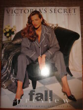 Stephanie Seymour Vintage Victoria's Secret London Catalog SEXY LINGERIE Model's