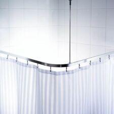 U-Form Eckstange Duschvorhangstange Winkelstange Duschstange für Duschvorhang