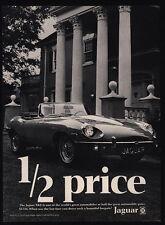 1969 JAGUAR XKE Convertible Luxury Car - 1/2 Price - Mansion - VINTAGE AD