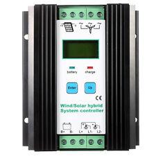 Wind&Solar Hybrid PWM Controller(600W Wind+400W Solar) 12V/24V Automatic BT