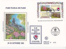 Enveloppe grand format 1er jour 1993 Le salon du timbre Parc Floral de Paris